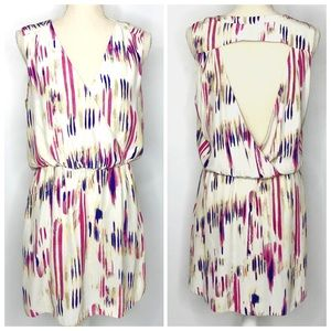 Parker 100% Silk Open Back Mini Dress